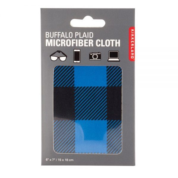 Buffalo Plaid Microfiber Cloth - Blue