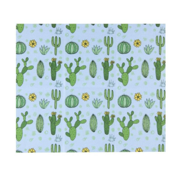 Microfiber Cleaning Cloth - Blue Cactus